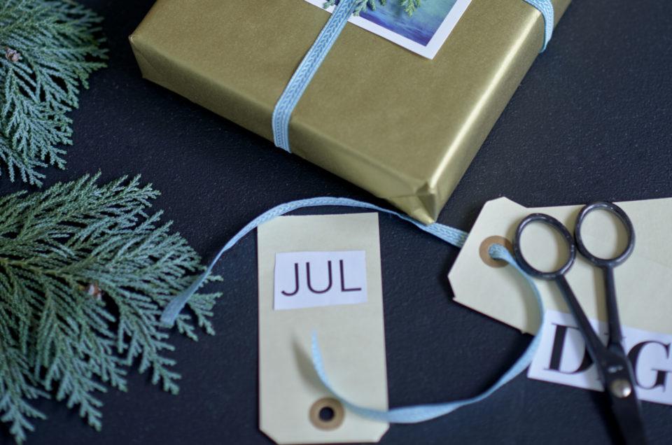 Med ønsket om en glædelig jul
